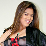 Sabrina chin.  Sassy Sabrina struts around in her silk robe... but not for long!